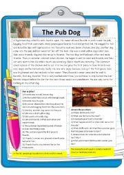 English Worksheet: The Pub Dog