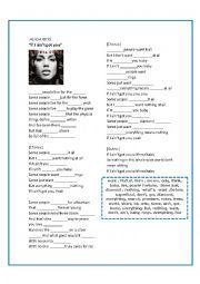 English Worksheet: ALICIA KEYS - if I aint got you