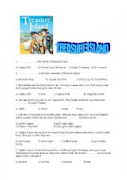 English Worksheet: Treasure Island