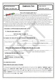 English Worksheet: Diagnostic Test