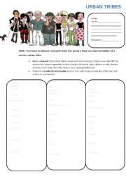 English Worksheet: Urban tribes
