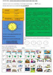 English Worksheet: my schedule