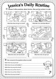 English Worksheet: Daily Routine�s...