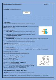English Worksheet: module 1/lesson1:family relationships
