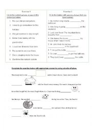 English Worksheet: adverbs of place