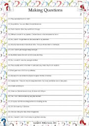 English Worksheet: ....:::: PRACTICE MAKING QUESTIONS - 02 ::::....