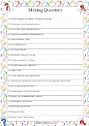 English Worksheet: ....:::: PRACTICE MAKING QUESTIONS - 04 ::::....