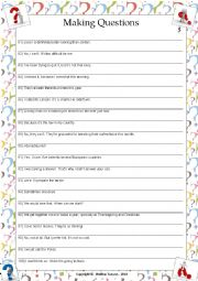 English Worksheet: ....:::: PRACTICE MAKING QUESTIONS - 05 ::::....
