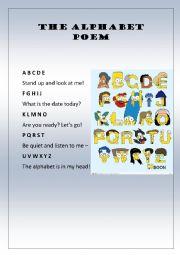 English Worksheet: Alphabet poem
