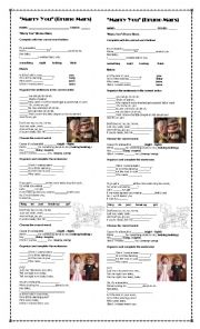 English Worksheet: MARRY YOU (BRUNO MARS) SONG