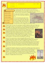 The  Great Fire of London: reading and comprehension