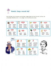 English Worksheet: vowels sound short and long /a/