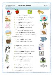 Alphabet song and introducing