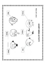 English Worksheet: Angry Birds Coloring Page