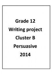 English Worksheet: writing project persuasive