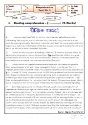 English Worksheet: Comrehensive test 3 2nd form