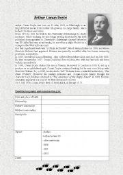 English Worksheets: Arthur Conan Doyle