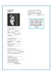 English Worksheet: jhon lennon - imagine