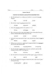 English Worksheet: Context Clues 2