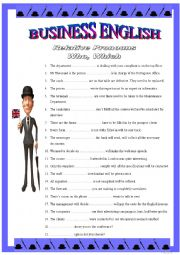 BUSINESS ENGLISH 6 - Relative pronouns WHO or WHICH