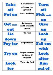 English Worksheet: Prasal verbs New headway pre-intermediate unit 5