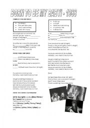 English Worksheet: PASSIVE VOICE - BON JOVI