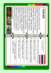 English Worksheet: ASEAN series - Thailand