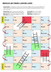 English Worksheet: Irregular Verbs Board Game