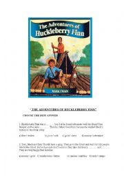 The adventures of Huckleberry Finn story book