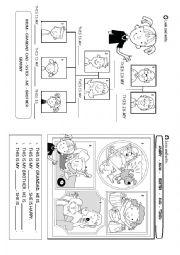 English Worksheet: FAMILY MEMBERS AND FEELINGS
