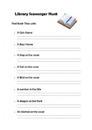Classroom Library Scavenger Hunt by Middle School Shenanigans | TpT