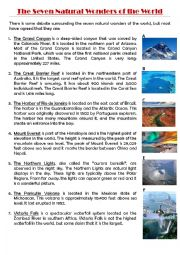 THE SEVEN NATURAL WONDERS