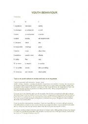 English Worksheet: Trinity Youth Behaviour