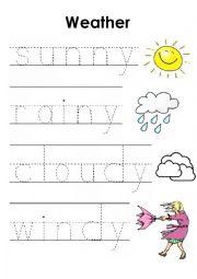 english worksheets the weather worksheets page 73. Black Bedroom Furniture Sets. Home Design Ideas
