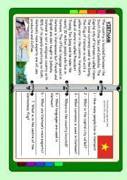 English Worksheet: ASEAN series - Vietnam