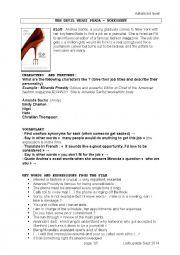 English Worksheet: WORKSHEET THE DEVIL WEARS PRADA