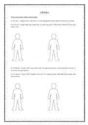 English Worksheet: Vocabulary - school, clothes, musical instruments, places in the town
