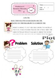 English Worksheet: plot: problem & solution