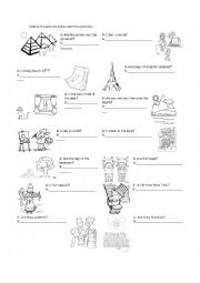English Worksheet: yes no questions with verb to be