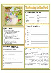 English Worksheet: Yesterday in the Park