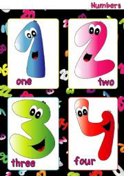 Numbers FLASHCARDS (1-4)