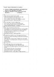 English Worksheet: Assignment on �Irony�