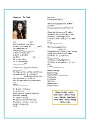 English Worksheet: Miley Cyrus - The Climb song