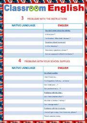 English Worksheet: Classroom English 3 reuploaded