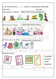 English Worksheet: 4th  grade 2nd term 1st exam