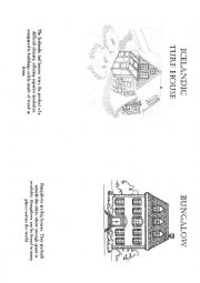 English Worksheet: types of houses and description