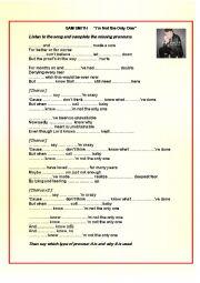 English Worksheet: SAM SMITH
