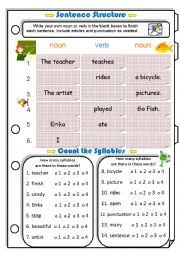 Sentence Structure & Counting Syllables 1