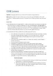 English Worksheet: COIK Lesson