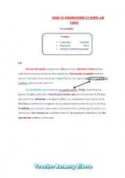 printable how to write an essay